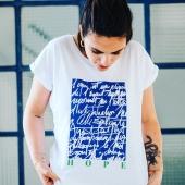 Découvrez ce t shirt en coupe femme et mixte sur notre site www.letricotdepaul.fr. @nicolasgigantophotographe  . . . . . . #tshirt #madeinfrance #fabriqueenfrance #mif #art #artist #hope #espoir #blue #bleu #serigraphie #letricotdepaul